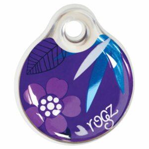Rogz ID Tag адресник пластиковый готовый к использованию, размер L, фиолетовый, 34 мм