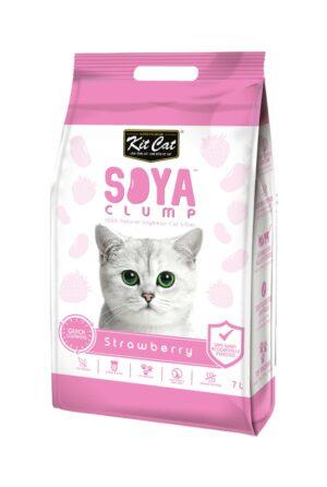 Kit Cat SoyaClump Soybean Litter Strawberry соевый биоразлагаемый комкующийся наполнитель с ароматом клубники - 7 л
