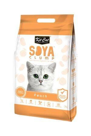 Kit Cat SoyaClump Soybean Litter Peach соевый биоразлагаемый комкующийся наполнитель с ароматом персика - 7 л