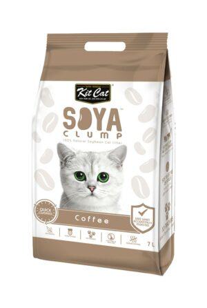 Kit Cat SoyaClump Soybean Litter Coffee соевый биоразлагаемый комкующийся наполнитель с ароматом кофе - 7 л