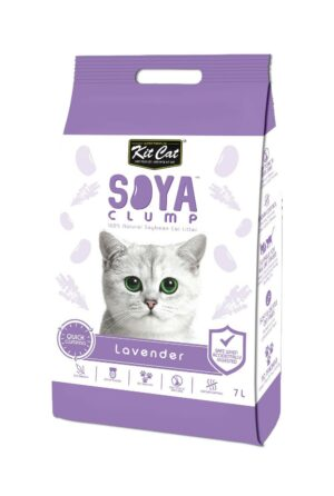 Kit Cat SoyaClump Soybean Litter Lavender соевый биоразлагаемый комкующийся наполнитель с ароматом лаванды - 7 л