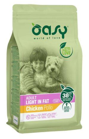 Oasy Dry Dog Adult light in Fat сухой корм для взрослых собак с лишним весом с курицей - 3 кг