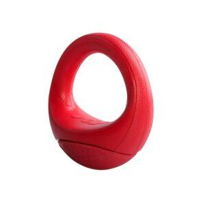 Rogz игрушка- ПопАпс, резина в форме бублика, тип ванька-встанька, 120 мм, PU02K, красный