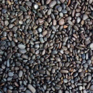"""UDeco River Dark - Натуральный грунт для аквариумов """"Тёмный гравий"""", 3-5 мм, 6 л"""