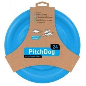 PitchDog летающий диск голубой