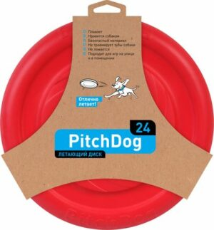 PitchDog летающий диск  красный