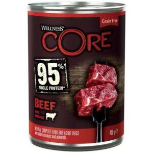 CORE 95 консервы из говядины с брокколи для взрослых собак
