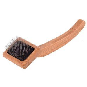 ISB BAMBOO SLICKER BRUSH сликер с бамбуковой ручкой, малый