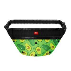 """Поясная сумка - бананка Waudog Textile для корма и аксеcсуаров, рисунок """"Авокадо"""""""