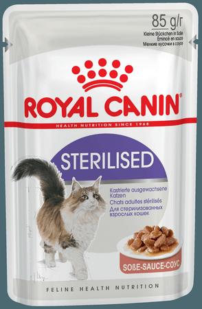 10167550 R.C. Стерилайзд кон.д/стерилизованных кошек (кусочки в соусе) 85гр*24 (пауч) NEW