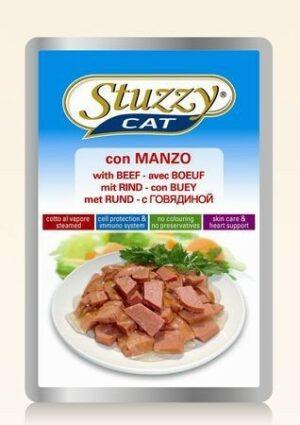 132.С2402    STUZZYCAT консервы для кошек с говядиной 100гр (24шт/упак)