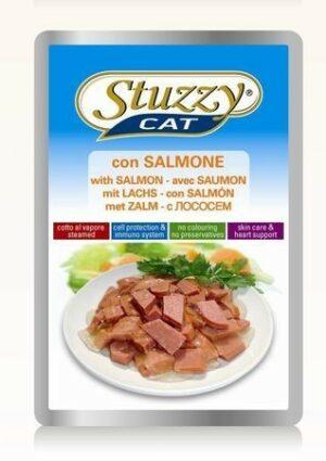 132.С2406    STUZZYCAT консервы для кошек с лососем 100гр (24шт/упак)