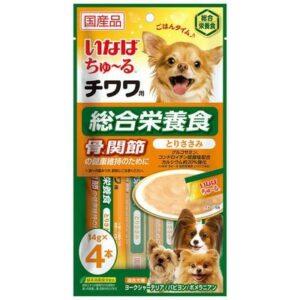 INABA ЧАО ЧУРУ 14г*4 пюре для Чихуа-хуа,здоровые суставы и кости д/собак (уп48) DS-186