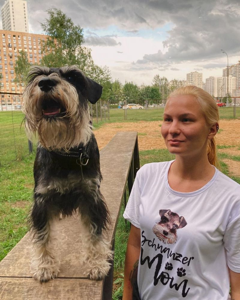 хозяйка и собака